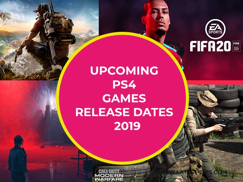 Upcoming Ps4 Games Release Dates 2019
