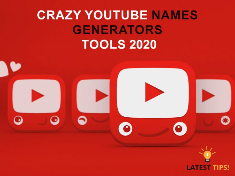 crazy youtube names Generators tools 2020