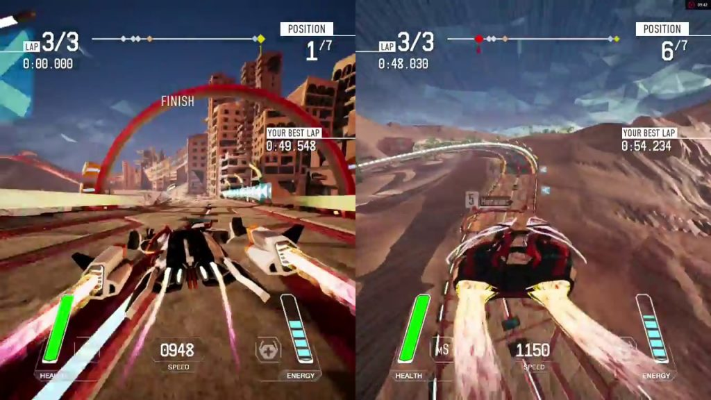 Best Split Screen PS4 Games Redout - 2 players