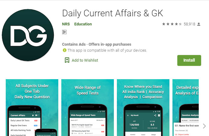 Current Affairs App- Daily Current Affairs & GK
