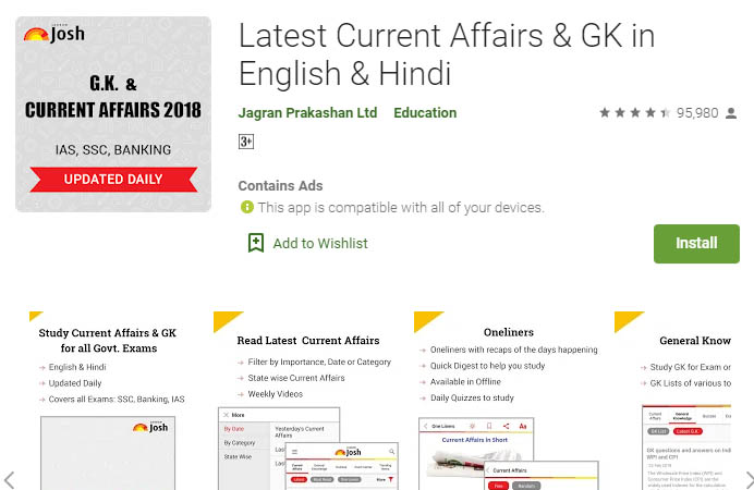 Current Affairs App-Latest Current Affairs & GK in English & Hindi