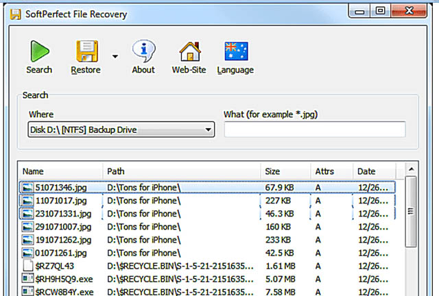 Data Recovery Software For Windows soft perfect file recovery
