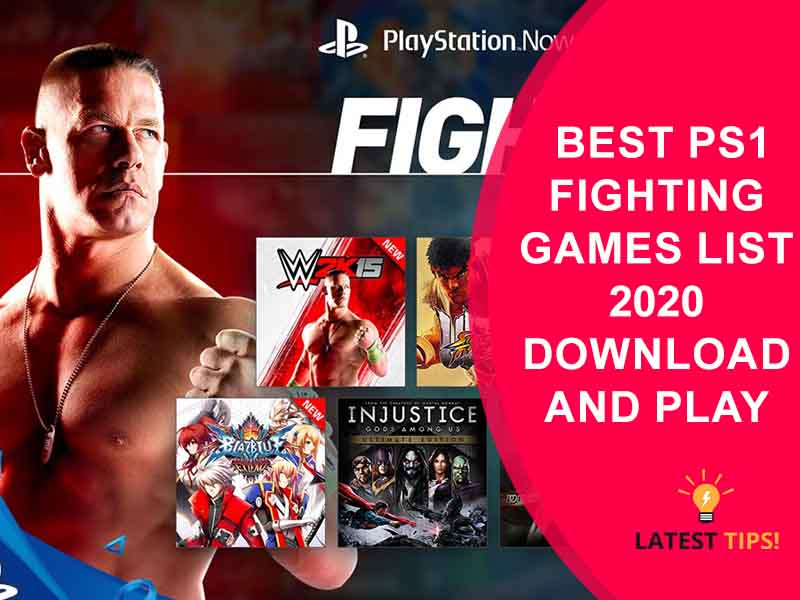 PS1 Fighting Games List With Picture