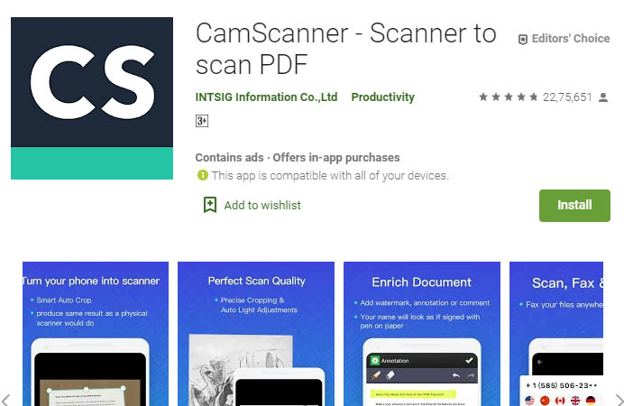 must have android apps camscanner