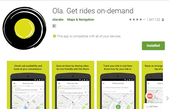 must have android apps ola cab