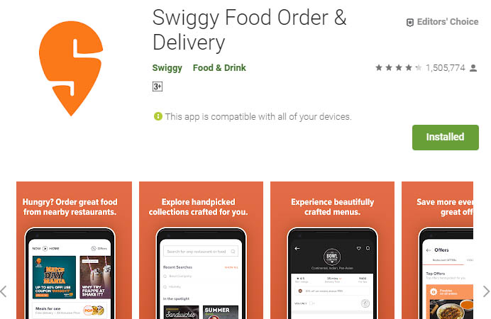 must have android apps swiggy