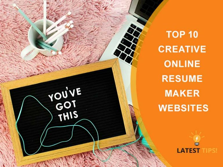 Creative Online Resume Maker Websites latest tips