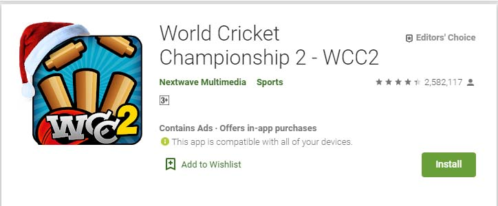 Cricket Games For Android Mobile World Cricket Championship 2