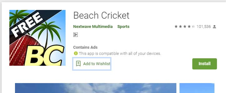 Cricket Games For Android Mobile beach cricket