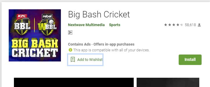 Cricket Games For Android Mobile big bash