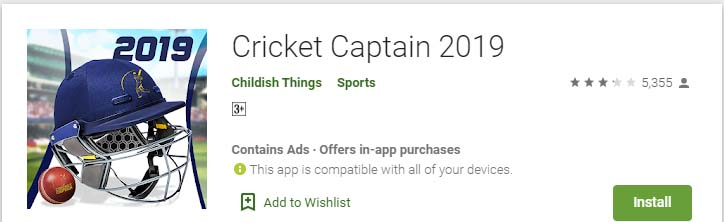 Cricket Games For Android Mobile cricket captain 2019
