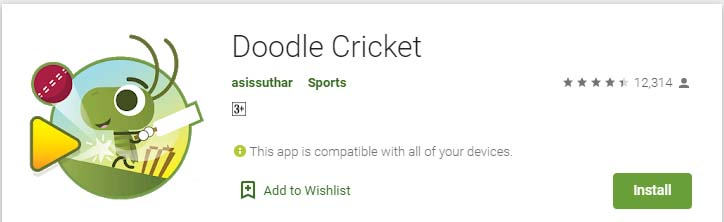 Cricket Games For Android Mobile doodle cricket