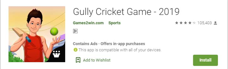 Cricket Games For Android Mobile gully cricket game 2019