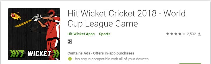 Cricket Games For Android Mobile hit wicket cricket 2018