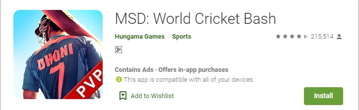 Cricket Games For Android Mobile msd world cricket bash