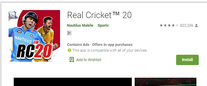 Cricket Games For Android Mobile real 20