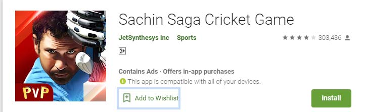 Cricket Games For Android Mobile sachin saga