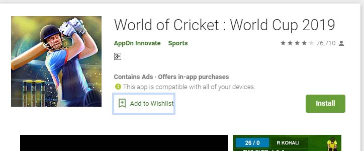 Cricket Games For Android Mobile world of cricket