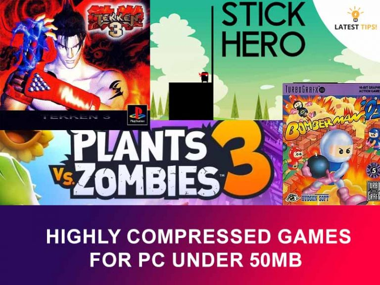 highly compressed games for pc under 50mb