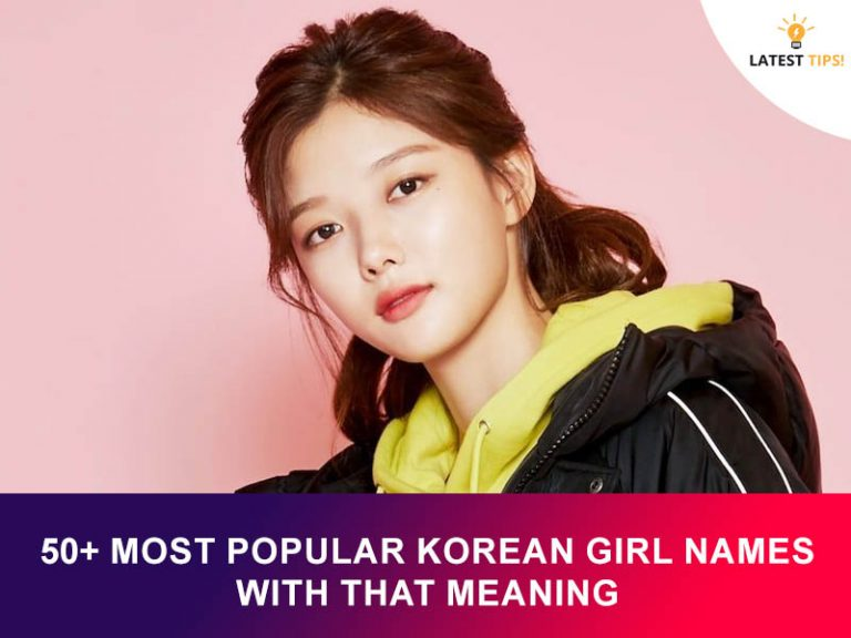 Most Popular Korean Girl Names With That Meaning
